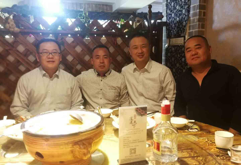 马总与帝斯曼李总裁,关经理虎经理合影
